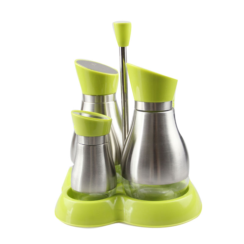 Condiment set stainless steel